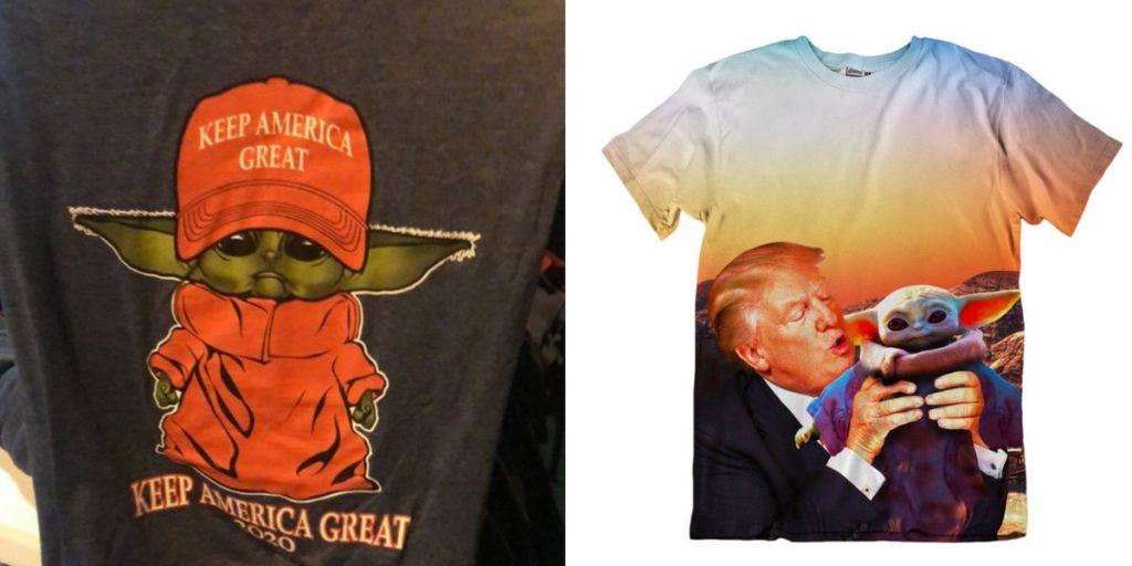 Baby Yoda Donald Trump Shirts Are MAGA Bros' Attempt To Take the Star Wars Character