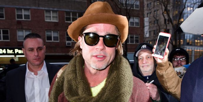 Brad Pitt Photos New York City January